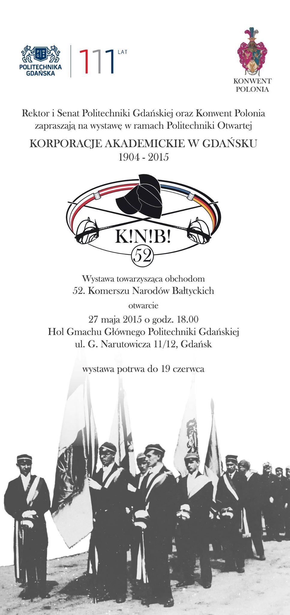 """Wystawa """"Korporacje akademickie w Gdańsku 1904 – 2015"""""""