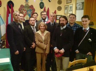 Wizyta Pani Krystyny Łubieńskiej na kwaterze Konwentu